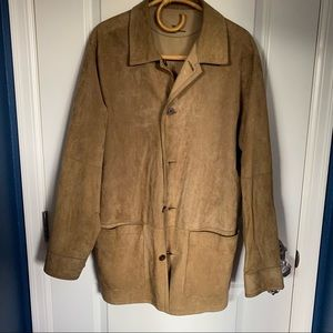 Tommy Bahama Brown Leather Suede Jacket